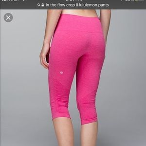 LuLulemon high waisted In the Flow Crop II pants